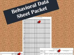 Behavioral Data Sheet Packet