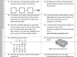 four operations mixed multiplication division subtraction addition  four operations mixed multiplication division subtraction addition ks  year     worksheet only by trabzonunal  teaching resources  tes