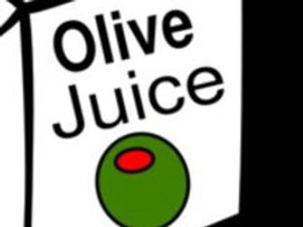Olive Juice and Elephant Shoes