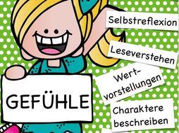 German GCSE / Deutsch: Gefühle - Speaking about feelings, for Kids and young teenagers, Lesen