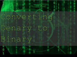 Denary to Binary Number - Intro