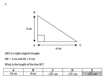 Maths KS3 and KS4 GCSE Pythagoras and trigonometry in right-angled triangles. Huge bundle!