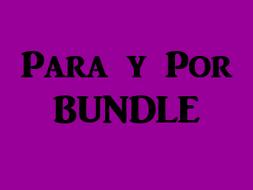 Para y Por Spanish Bundle