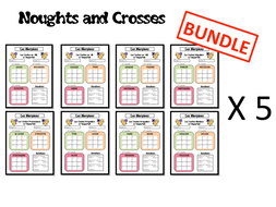 Morpions/ Noughts and Crosses- Grammar/ Conjugation Game- 5 Tenses BUNDLE- FRENCH