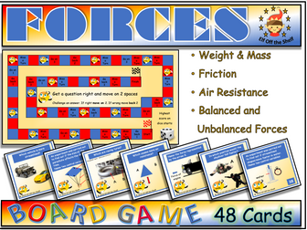 Forces - 48 Question Board Game KS3