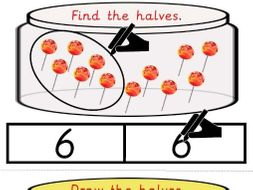 Find and Draw the Halves