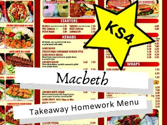 AQA Macbeth KS4 Takeaway Homework Menu