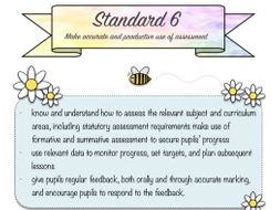 Teacher Standards Cover Sheets With Ideas for Evidence