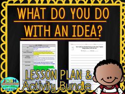 what do you do with an idea by kobi yamada lesson plan and