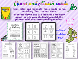 Count and Match Cards #1