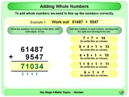 Adding Whole Numbers KS4