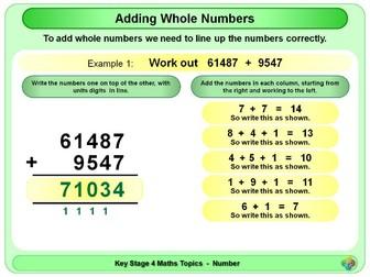 Adding Whole Numbers KS4