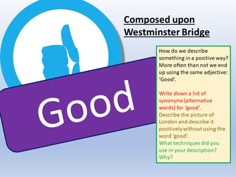Unseen Poetry - Composed upon Westminster Bridge