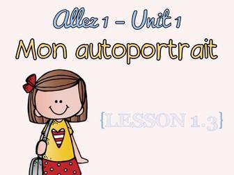 Allez 1 - unit 1 - Mon autoportrait - 1.3