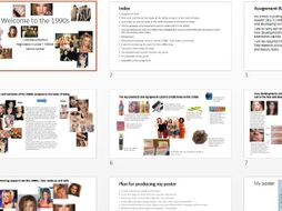 GCSE hair and beauty example of 1990s assignment guidance