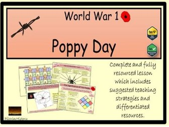 Remembrance and Poppy Day for World War 1