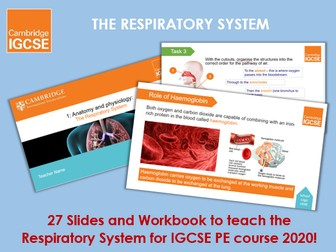 Respiratory System - IGCSE Physical Education Ppt & Workbook