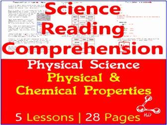 Physical Science Reading Passages   Physical & Chemical Properties   Grade 5-6