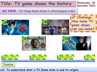 TV Game show origins/history GCSE Media Studies UNIT 1 Media Exams TV Game Show