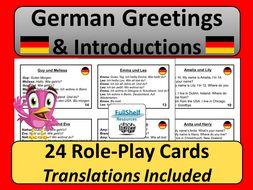 German Greetings Speaking Activity