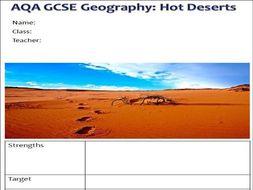 AQA GCSE Geography Hot Deserts Workbook