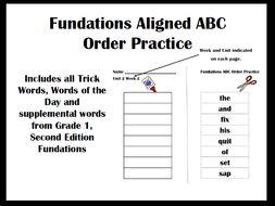 Fundationstastic ABC Order Practice