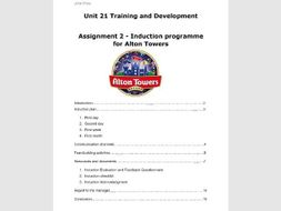 Unit 21 Training and Development Assignment 2 Induction programme for new starters in a business