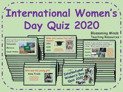 International Women's Day Quiz - 64 questions - Women's History Month