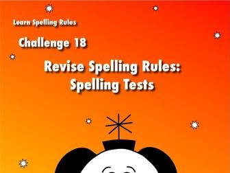 Revise Spelling Rules Spelling Test