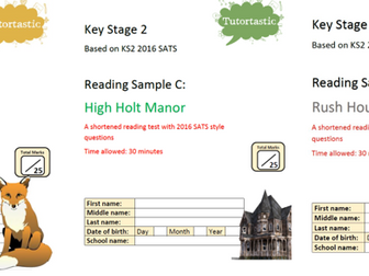 KS2 SATS Reading Comprehension Bundle