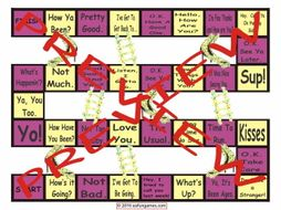 Greetings and Good Byes Chutes and Ladders Board Game