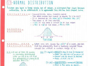 IB Maths SL - Topic 5 Statistics - Notes