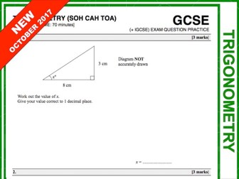 GCSE 9-1 Exam Question Practice (Trigonometry)