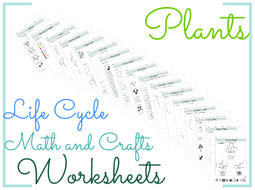 Plant Life Cycle Math and Crafts Worksheets