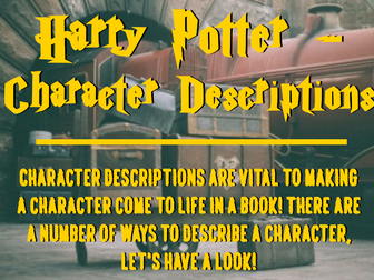 Character Descriptions - Harry Potter