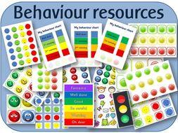 Behaviour resources - chart, cards, traffic lights visual warnings, rewards etc