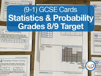 Statistics and Probability | Grade 8/9 target New 9-1 GCSE Maths