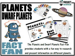 Planets and Dwarf Planets Fact Fan