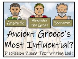 UKS2 History - Most Influential Figure from Ancient Greece? - Discussion Based Text Writing Unit