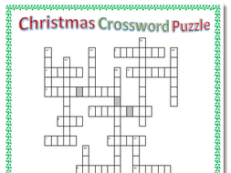 Christmas Crossword Puzzle.Christmas Crossword Puzzle 2 With Answers