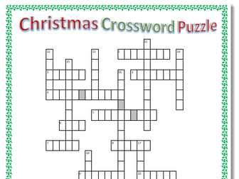 Christmas Crossword Puzzle 2 with Answers