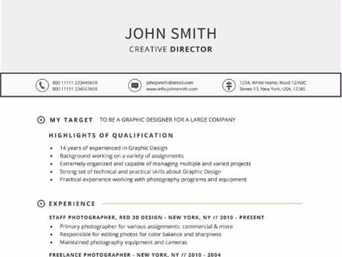 Attractive Targeted Resume Template For Word