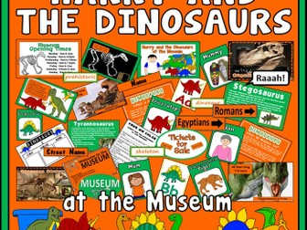 HARRY & THE DINOSAURS AT THE MUSEUM STORY  -EYFS KS1 ENGLISH SCIENCE HISTORY EARLY YEARS