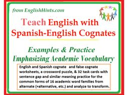Teach English with Spanish-English Cognates: Examples & Practice