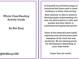 Whole Class Reading Idea Pack