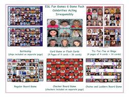Celebrities Acting Irresponsibly 6 Board Game Bundle