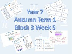 Planning for White Rose Maths Secondary Autumn Term 1 Block 3 Week 5 Equality and Equivalence.