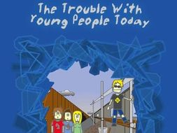 Sample pages from The Trouble With Young People Today play