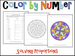 Solving Proportions Color By Number By Charlotte James615 Teaching