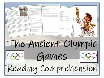 UKS2 History - Ancient Olympics Reading Comprehension Activity